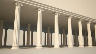 Classical white Greek style columns — Stock Video