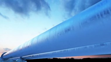 Pipeline transportation oil, natural gas or water — Stock Video