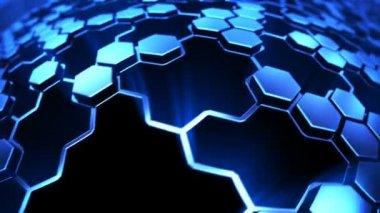 Hexagon technology background — Stock Video