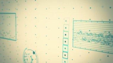 Futurystyczny graficzny interfejs zmieniający wykres współczynnika — Wideo stockowe