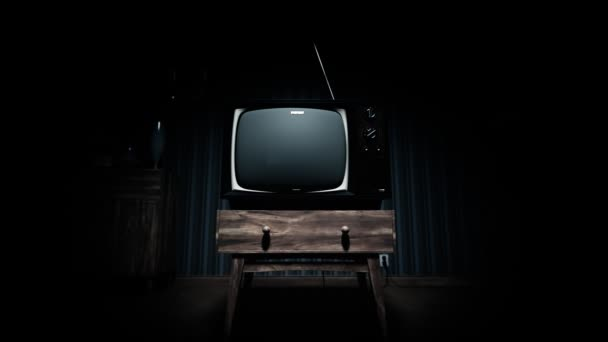Viejo televisor vintage — Vídeo de stock