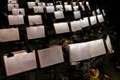 Muzyka orkiestrowa, przerwy — Zdjęcie stockowe