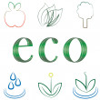 Small set of environmental icons — Stock Vector