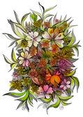 Wild flowers of different sizes — Stok fotoğraf