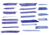 Watercolor brush strokes on paper — 图库矢量图片