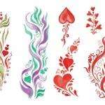 Постер, плакат: Watercolor flowers in different styles