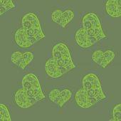 Schöne nahtlose Hintergrund mit Herzen — Stockvektor