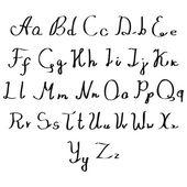 Set of watercolor handwriting font — Vetor de Stock