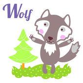 WolfLett — Stok Vektör