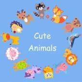 CuteAnimals — Stock Vector