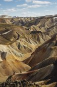Colorful mountains in southern Iceland. Landmannalaugar — Stock Photo