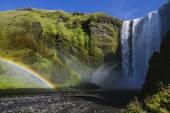 Powerful Skogafoss Waterfall in Iceland — Stock Photo