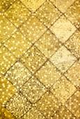 Golden color oriental antique style tiles wall — Stok fotoğraf