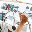 Driving boat — Stock Photo #58920973