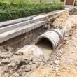 Sewer installation in city — Stock Photo #58924645