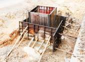 Sewer installation in city — Stock Photo
