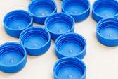 Blue color plastic bottle cap — Stock Photo