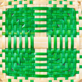 Weaved bamboo texture — Stock Photo