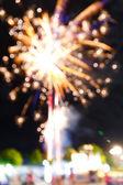 Firework in night fun fair carnival — Stock Photo