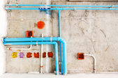 Electrical and sanitary distribution system — Stock Photo