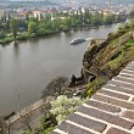 Prague, the embankment of the Vltava river. — Stock Photo #52980841
