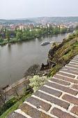 Prague, the embankment of the Vltava river.  — Stock Photo