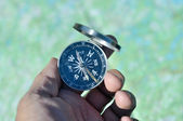 Compass in hand.  — Stock Photo