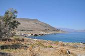 Sea summer landscape coast of the Greek island. — Stock Photo
