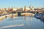 The Moscow Kremlin is a UNESCO world cultural heritage — Stock Photo