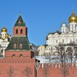 Постер, плакат: Golden domes of churches in the Moscow Kremlin