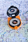 Travel compass and map symbols adventures. — Stock Photo