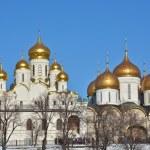 Постер, плакат: Golden domes of churches in the Moscow Kremlin