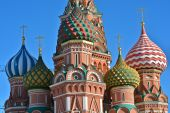 Moscow, Cathedral of Saint Basil. — Stock Photo