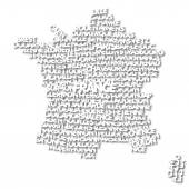Abstract map of France — Stock Photo