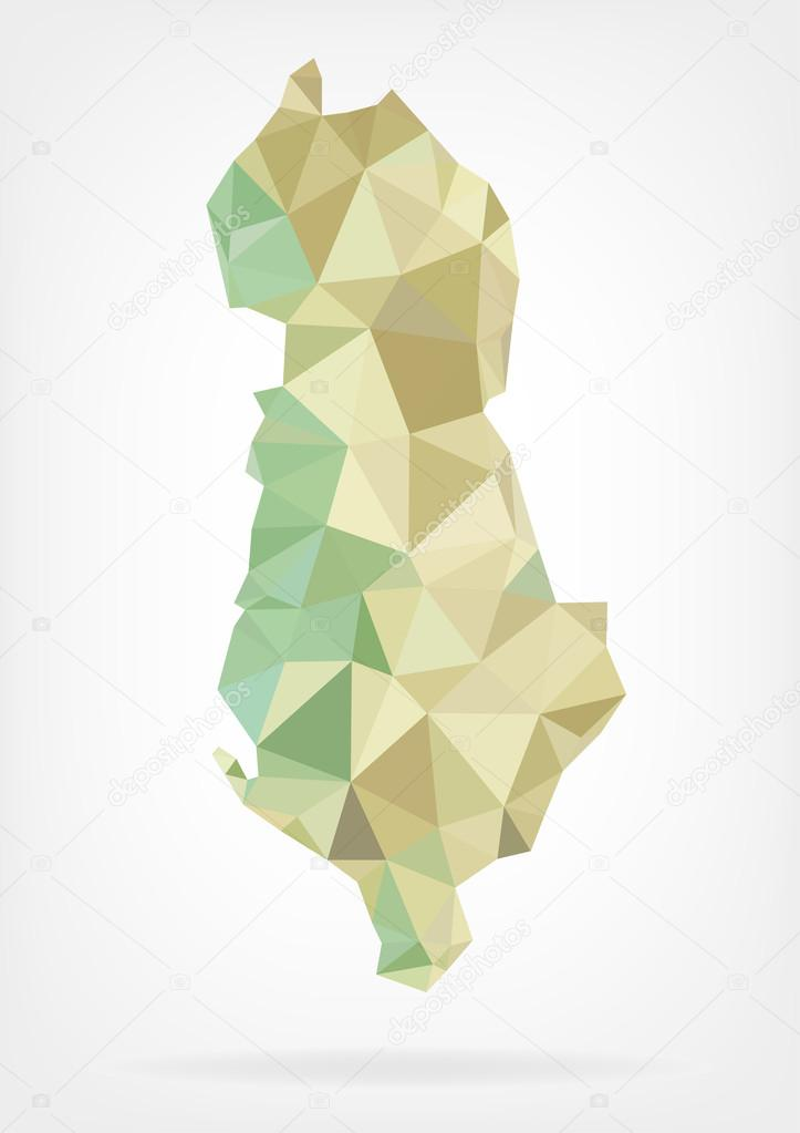 Albania Map Vector Vector Illustration of Map of