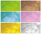 Abstract geometric low poly backgrounds — Stock Vector