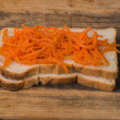 Vegetarian sandwich — Stock Photo #74337757