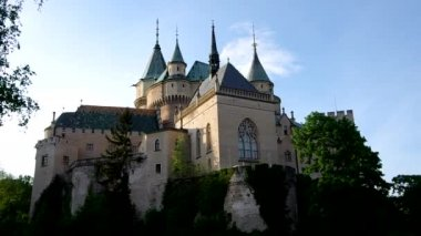 Castle in Bojnice, Slovakia — Stock Video