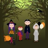 Halloween Kids — Stock Vector