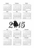 Simple calendar 2015 with ram — Stock Vector