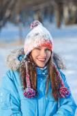 Beautiul winter woman — Stock Photo