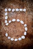 '5' number alphabet made form white stone — Stock Photo