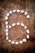 '6' number alphabet made form white stone — Stock Photo