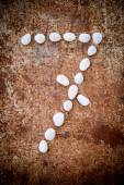 '7' number alphabet made form white stone — Stock Photo