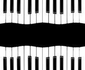 Piano isolated — Stock Photo