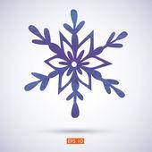 Suluboya kar tanesi — Stok Vektör