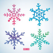 Set of watercolor snowflakes — Vetorial Stock