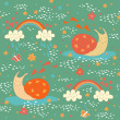 Seamless pattern with two cute snails — Stock Vector #59099027