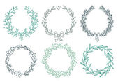 Set of winter wreaths — Stock Vector