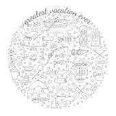 Adventure emblem — Vector de stock